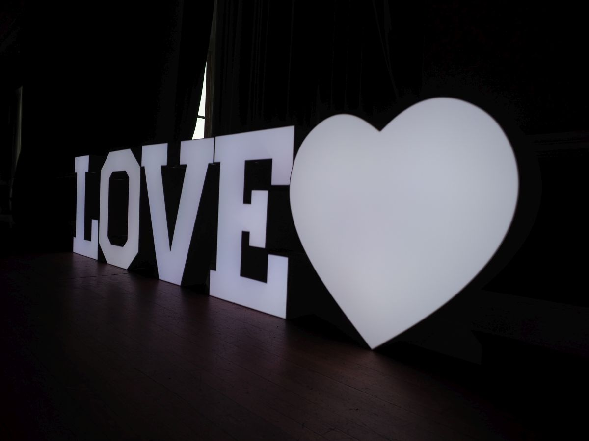 led love letters heart